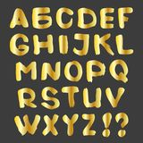 Gold alphabet on a dark background. Vector illustration. Gold alphabet on a dark background. Vector illustration Royalty Free Stock Photography