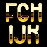 Gold alphabet letters. Isolated raster version of vector image of gold alphabet capital letters (contain the Clipping Path). There is in addition a vector format Royalty Free Stock Image