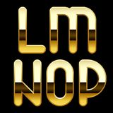 Gold alphabet letters. Isolated raster version of vector image of gold alphabet capital letters (contain the Clipping Path). There is in addition a vector format Stock Photography