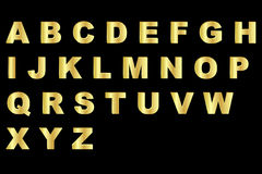 Gold alphabet - uppercase Stock Photo
