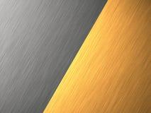 Gold- Aluminiummetallbeschaffenheit Lizenzfreie Stockfotos