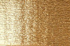 Gold aluminum foil texture. Stock Photography