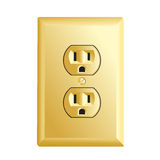 Gold American socket Royalty Free Stock Photos