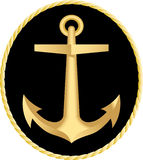 The gold anchor Royalty Free Stock Images