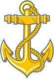 Gold anchor. High quality vector Stock Photo