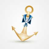 Gold Anchor Royalty Free Stock Image
