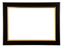 Gold And Black Color Frame Stock Photography