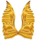 Gold Angel Wings Stock Photos