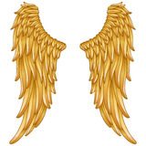 Gold angel wings Royalty Free Stock Image