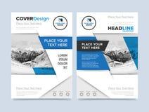 Gold annual report brochure design template vector Stock Photo
