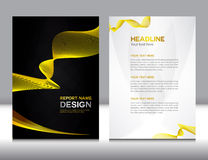 Gold Annual report Vector illustration Stock Photos