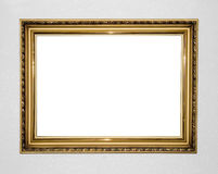 Gold antique frame Royalty Free Stock Image