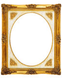Gold antique frame Royalty Free Stock Images