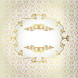 Gold antique frame Stock Image
