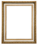 Gold antique frame. Isolated on white background Royalty Free Stock Photos