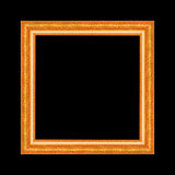 Gold antique frame isolated on black background.  Royalty Free Stock Photography