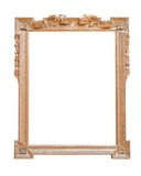 Gold antique frame isolated on white background royalty free stock photo