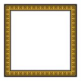 Gold antique frame isolated on white background Stock Image