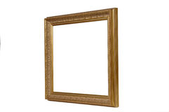 Gold Antique Picture Frame. Gold Picture Frame on White Royalty Free Stock Photos