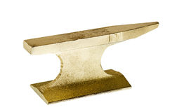 Gold anvil Stock Images