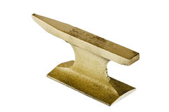Gold anvil Stock Photography