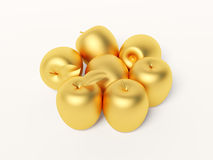 Gold apple Royalty Free Stock Photography