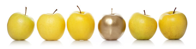 Gold apple Royalty Free Stock Photos
