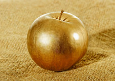 Gold apple. Stock Images