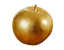 Gold apple. Royalty Free Stock Images