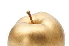Gold apple Royalty Free Stock Image