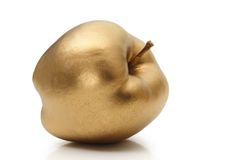 Gold apple Royalty Free Stock Images