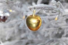 Gold apple Stock Photo
