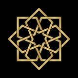 Gold Arabesque Ornament Stock Images