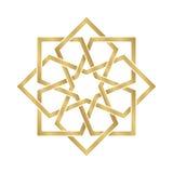 Gold Arabesque Ornament Royalty Free Stock Photo
