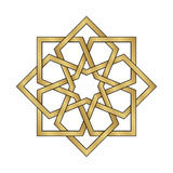 Gold Arabesque Ornament Royalty Free Stock Images