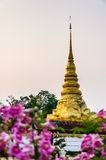 Gold architecture. Wat Phra Chae Haeng ,Nan Thailand Stock Photos
