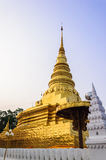 Gold architecture. Wat Phra Chae Haeng ,Nan Thailand Royalty Free Stock Photography