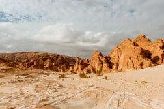Gold arid desert landscape Sinai, Egypt. Gold arid desert landscape on Sinai, Egypt Royalty Free Stock Photography