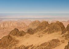 Gold arid desert landscape Sinai, Egypt Stock Photos