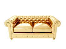 Gold Armchair. 3D Rendering Royalty Free Stock Photo