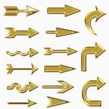 Gold arrow symbol Royalty Free Stock Image