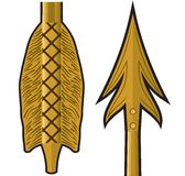 Gold arrow Stock Image