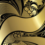 Gold Art background Stock Images