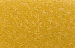 Gold art pattern linen fabric texture for background.  Stock Images