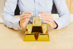 Gold as secure investment Stock Photography