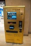 Gold ATM machine in Dubai, UAE Royalty Free Stock Image