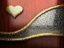 Gold auf rotem Holz Lizenzfreies Stockbild
