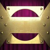 Gold auf rotem Samtvorhanghintergrund Lizenzfreies Stockbild