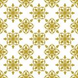 Gold auf weißer geometrischer Fliese mit Wiederholungs-Musterhintergrund der Vereine nahtlosem vektor abbildung