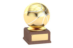 Gold award cup basketball, 3D rendering Royalty Free Stock Photography